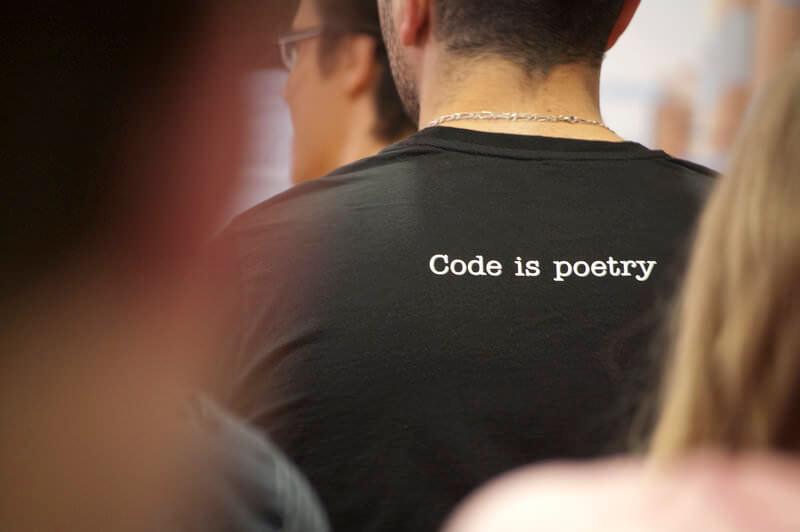Code is poetry Tshirt