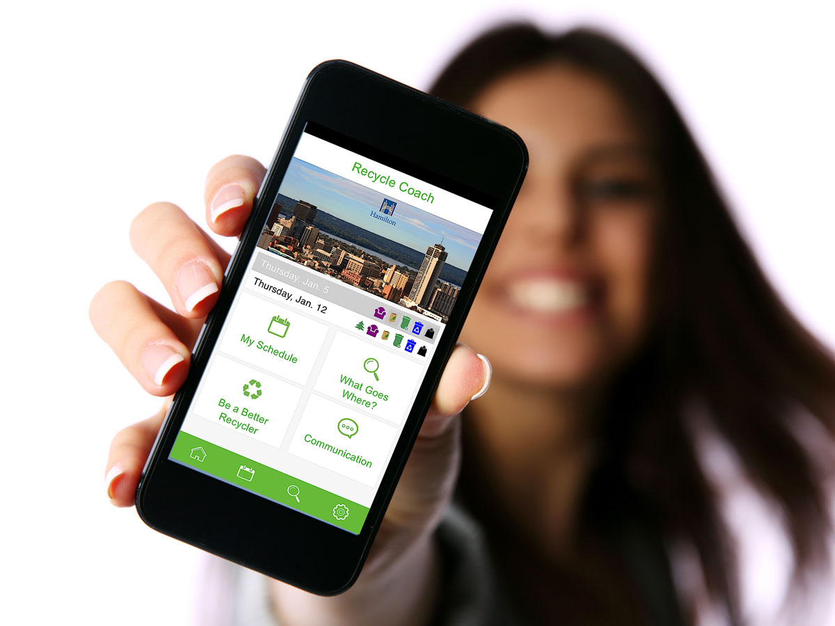 Recycle Coach App on Smartphone