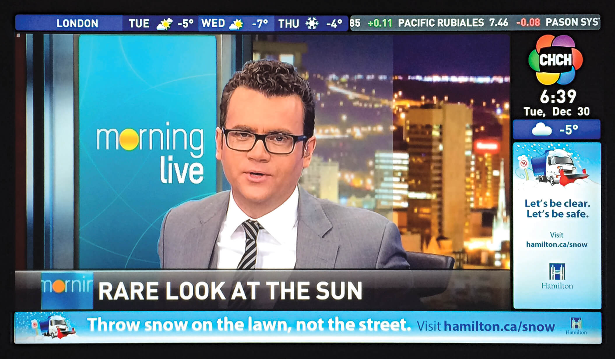 CHCH Morning Live ad